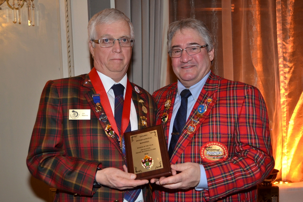 Russell Jewell with Joel LaPalme Rookie of the Year, 2015